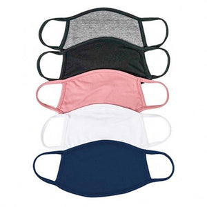5 Pack: Fabric Non-Medical Face Masks
