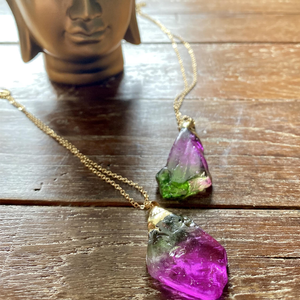 Watermelon Tourmaline Pendant Necklace