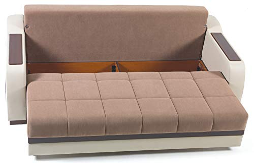 BELLONA Trendy Home Furniture Living Room Ultra Collection (Sofa, Optimum Brown)