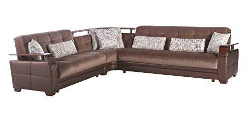 Istikbal Multifunctional Furniture Living Room Set Natural Collection (Prestige Brown, Sectional)