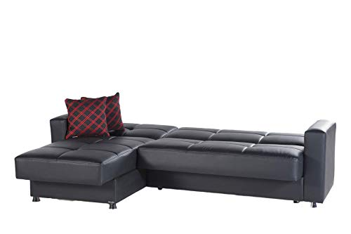 Istikbal Multifunctional Furniture Sectional Sleeper Sofa Elegant Collection Black