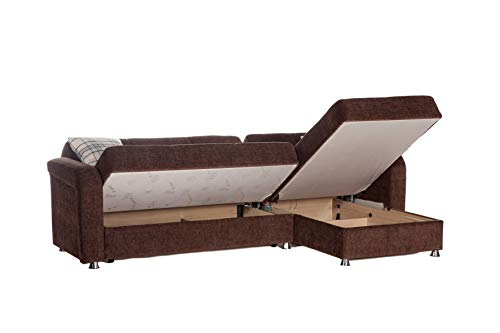 Istikbal Multifunctional Furniture Living Room Set Vision Collection (Brown, Sectional)