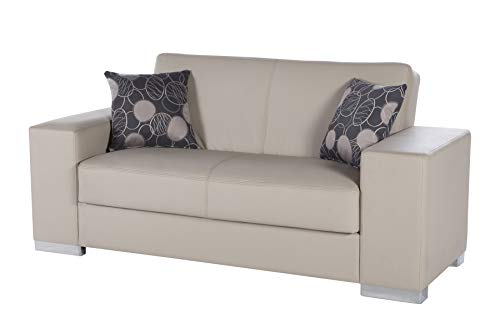 Istikbal Multifunctional Furniture Living Room Set Kobe Collection (Glory Cream, Love Seat)