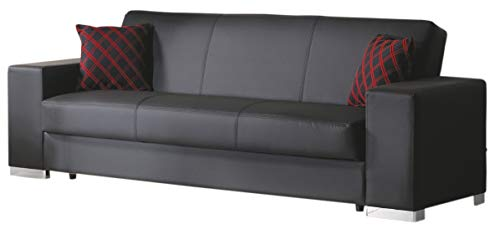 Istikbal Multifunctional Furniture Living Room Set Kobe Collection (Glory Black, Sofa)