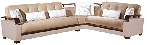 Istikbal Multifunctional Furniture Living Room Set Natural Collection (Naomi Brown, Sectional)