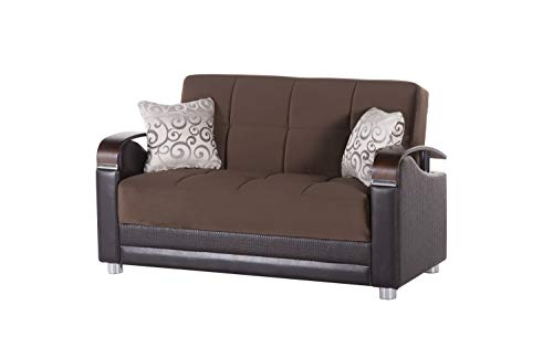 Bellona Trendy Home Furniture Living Room Set Luna Collection (Naomi Brown, Love Seat)