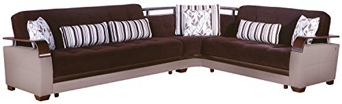 Istikbal Multifunctional Furniture Living Room Set Natural Collection (Collins Brown, Sectional)