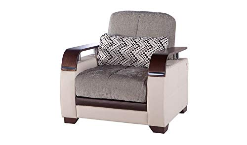Istikbal Multifunctional Furniture Living Room Set Natural Collection (Valencia Grey, Chair)