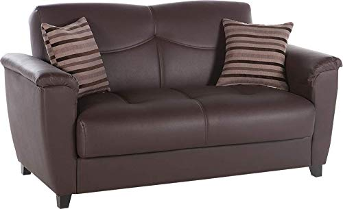 Istikbal Multifunctional Furniture Living Room Set Aspen Collection (Dark Brown, Love Seat)
