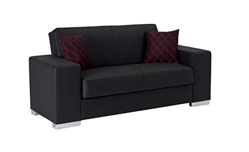 Istikbal Multifunctional Furniture Living Room Set Kobe Collection (Glory Black, Love Seat)