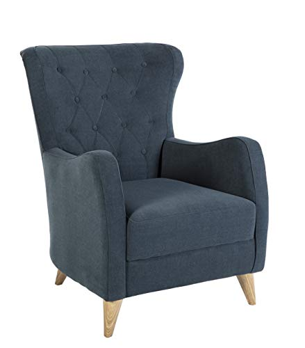 BELLONA Trendy Home Furniture Living Room Accent Chair VIENZA Collection (Blue)