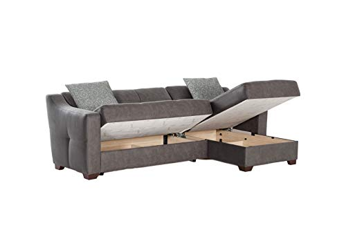 Istikbal Multifunctional Furniture Living Room Set Tahoe Collection (Melson Dark Grey, Sectional)