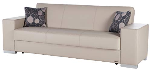 Istikbal Multifunctional Furniture Living Room Set Kobe Collection (Glory Cream, Sofa)