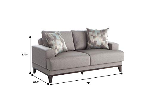 Bellona Trendy Home Furniture Living Room Set Versailles Collection (Love Seat)