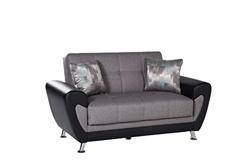 Bellona Trendy Home Furniture Living Room Set DURU Collection (Remoni Antrasit, Love Seat)
