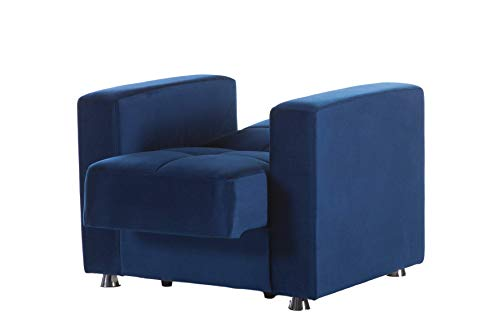 Istikbal Multifunctional Furniture Living Room Set Elegant Collection (Roma Navy, Chair)