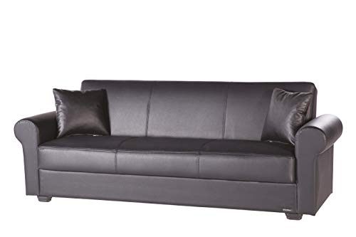 Istikbal Multifunctional Furniture Living Room Set Floris Collection (Glory Black, Sofa)