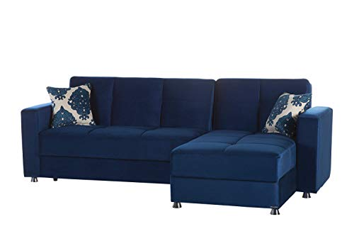 Istikbal Multifunctional Furniture Living Room Set Elegant Collection (Roma Navy, Sectional)