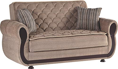Istikbal Multifunctional Furniture Living Room Set Argos Collection (Zilkade Brown, Love Seat)