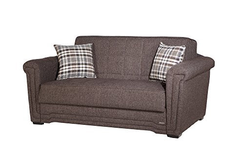ISTIKBAL Multifunctional Furniture Living Room Sofa Bed Victoria Collection (Andre Dark Brown)