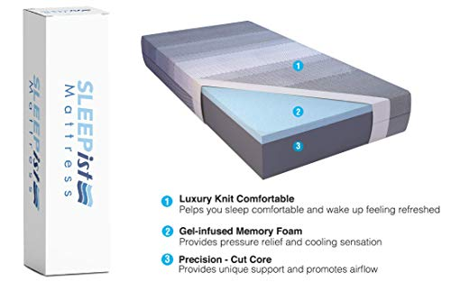 "ISTIKBAL SLEEPist Collection X Silence 11"" Gel Memory Foam Mattress Medium Feel (Mattress Only) Bed Mattress in A Box (Queen)"