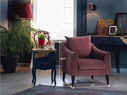 BELLONA Trendy Home Furniture Living Room Accent Chair Brookline Collection (Purple 471)