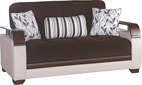 Istikbal Multifunctional Furniture Living Room Set Natural Collection (Collins Brown, Love Seat)