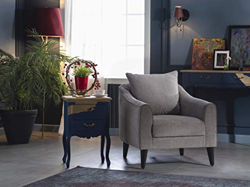 BELLONA Trendy Home Furniture Living Room Accent Chair Brookline Collection (Grey (275))