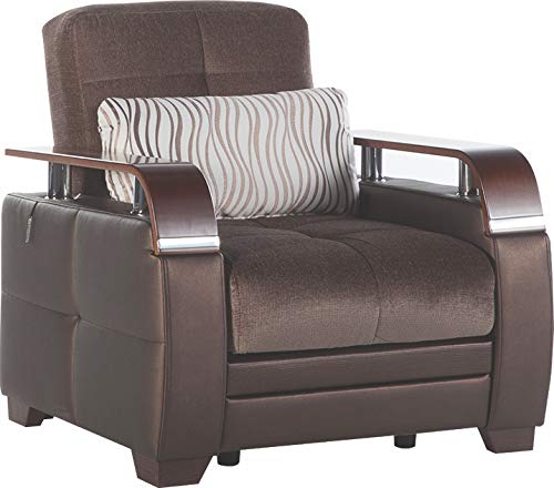 Istikbal Multifunctional Furniture Living Room Set Natural Collection (Prestige Brown, Chair)