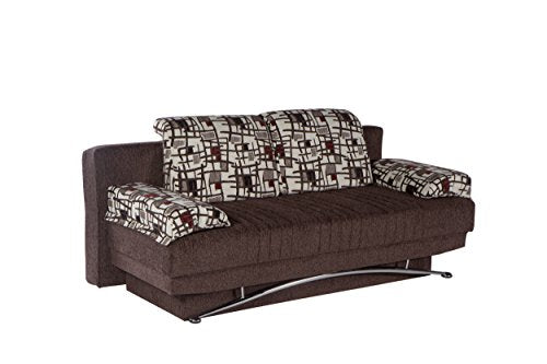 ISTIKBAL Multifunctional Furniture Living Room Sofa Bed Fantasy Collection (Burgundy)