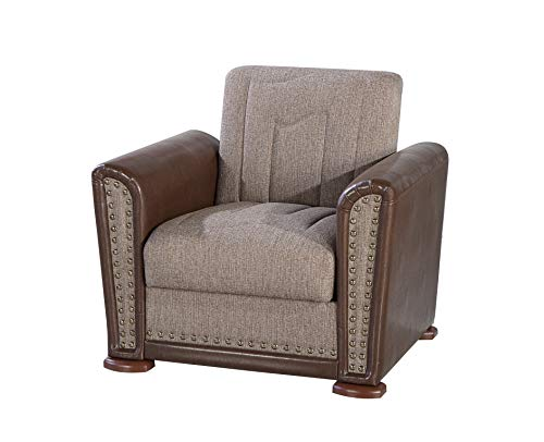 Istikbal Multifunctional Furniture Living Room Set ALFA Collection (Redeyef Brown, Chair)