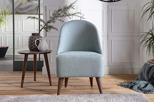 BELLONA Trendy Home Furniture Living Room Accent Chair BAKUBA Collection Midcentury Modern (Spa Blue)