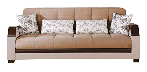 Istikbal Multifunctional Furniture Living Room Set Natural Collection (Naomi Brown, Sofa)