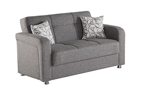 Istikbal Multifunctional Furniture Living Room Set Vision Collection (Grey, Love Seat)