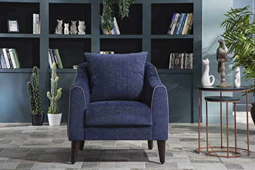 BELLONA Trendy Home Furniture Living Room Accent Chair Brookline Collection (Navy (230))