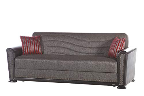 Istikbal Multifunctional Furniture Living Room Set ALFA Collection (Redeyef Fume, Sofa)