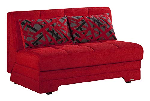 BELLONA Sleeper Love Seat Twist Collection (Story Red)