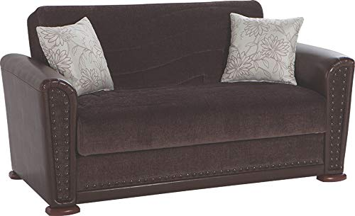 Istikbal Multifunctional Furniture Living Room Set ALFA Collection (Jennifer Brown, Love Seat)