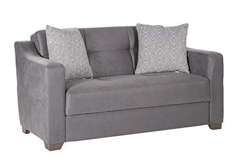 Istikbal Multifunctional Furniture Living Room Set Tahoe Collection (Melson Dark Grey, Love Seat)