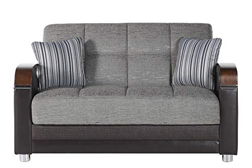 Bellona Trendy Home Furniture Living Room Set Luna Collection (Fulya Grey, Love Seat)