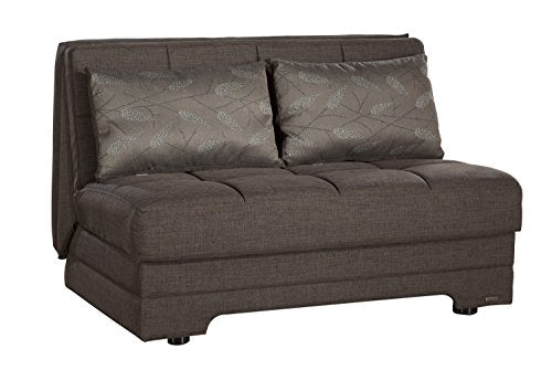 BELLONA Trendy Home Furniture Living Room Love Seat Twist Collection (Light Brown)