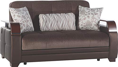 Istikbal Multifunctional Furniture Living Room Set Natural Collection (Prestige Brown, Love Seat)