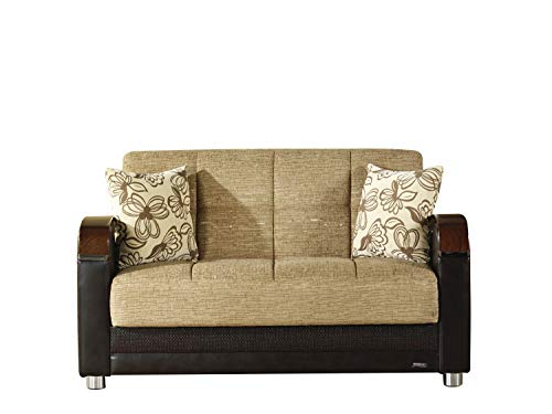 Bellona Trendy Home Furniture Living Room Set Luna Collection (Fulya Brown, Love Seat)