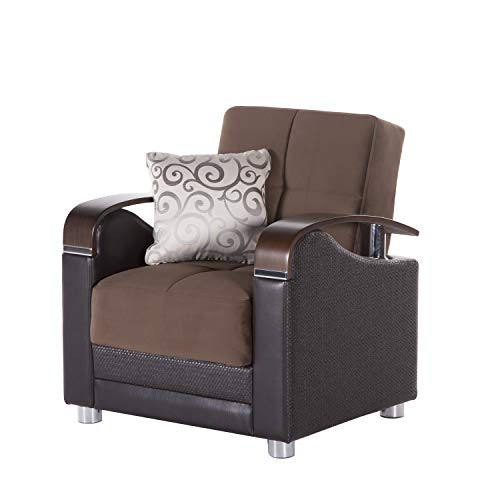 Bellona Trendy Home Furniture Living Room Set Luna Collection (Naomi Brown, Chair)