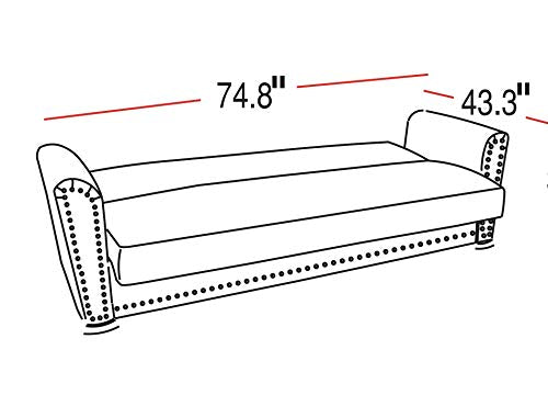 ISTIKBAL ALFA 3seat Sleeper Sofa Futon Sofa Bed  (Fabric)