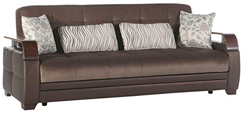 Istikbal Multifunctional Furniture Living Room Set Natural Collection (Prestige Brown, Sofa)