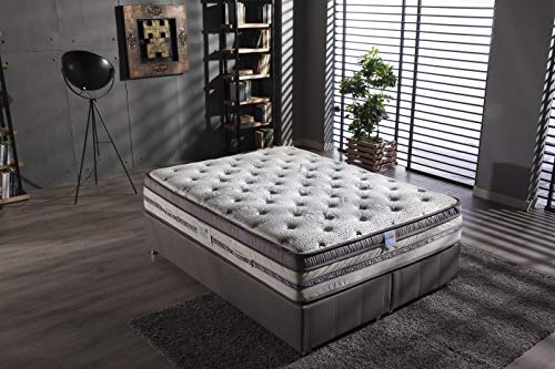 "ISTIKBAL SLEEPist Anti-Aging Plush Eurotop Mattress 13"" Vitamin E, Aloe Vera, Jojoba Oil Micro-Capsule Technology (Full) (Full)"