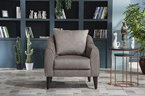 BELLONA Trendy Home Furniture Living Room Accent Chair Brookline Collection (Brown (472))
