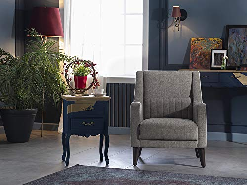 BELLONA Trendy Home Furniture Living Room Accent Chair Marcello Collection (Grey)