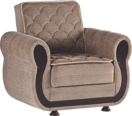 Istikbal Multifunctional Furniture Living Room Set Argos Collection (Zilkade Brown, Chair)